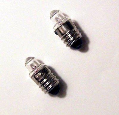 10mm 2.4V聚焦鎢絲燈泡20顆100元 汽車引擎號碼查驗燈 或 2.4VE10燈座替