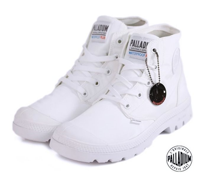 =CodE= PALLADIUM PAMPA PUDDLE LITE+ WP 防水輕量軍靴(全白)76117-100 女