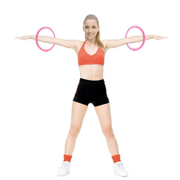衣萊時尚-手臂呼啦圈瘦腰女成人加重收腹可拆卸軟海棉兒童健身圈減肥呼拉圈