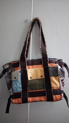 二手專櫃 MACANNA 麥坎納 手提包肩背包 帆布購物大包