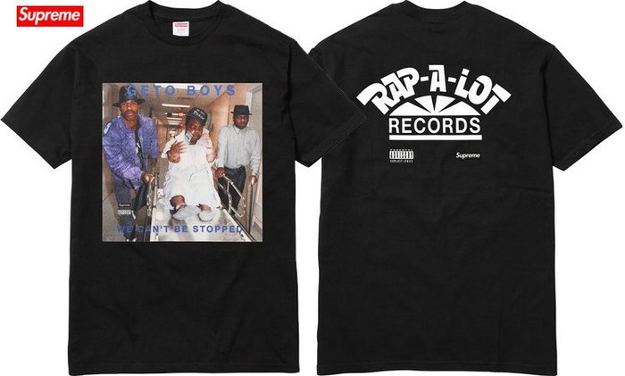 【超搶手】】全新正品 2017 Supreme Rap-A-Lot Records Boys Tee 照片T S M