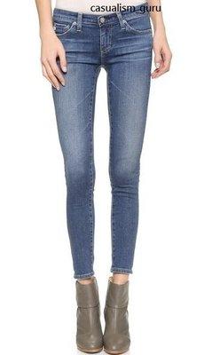 ◎美國代買◎AG Legging Ankle Jeans in 18 year刷白波紋復古風合身九分牛仔褲