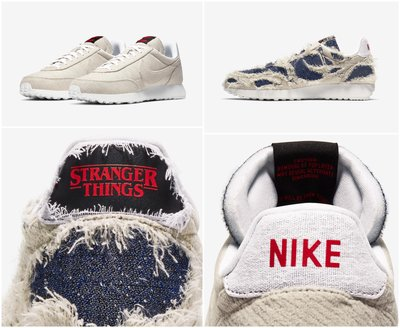 花田 STRANGER THINGS x NIKE TAILWIND 怪奇物語 火燒破壞 DIY CJ6110 100