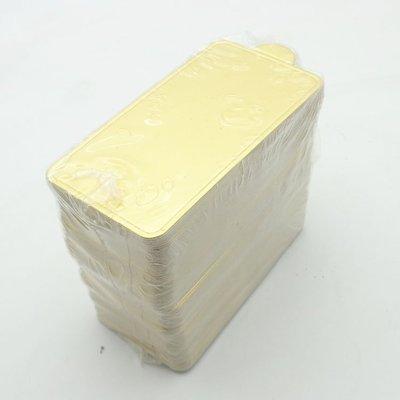 Amy烘焙網:大長方型小蛋糕金色底托 慕斯蛋糕托 蛋糕捲底托   蛋糕金色硬紙托 50入