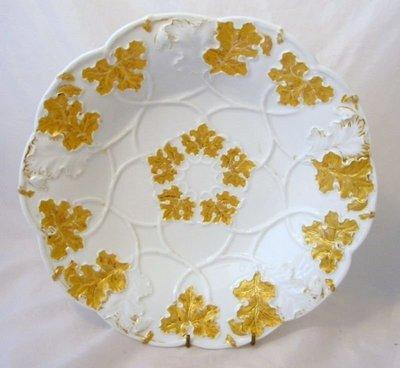 歐洲美瓷坊-德國國寶-Meissen-Leaf Encrusted黃金大盤