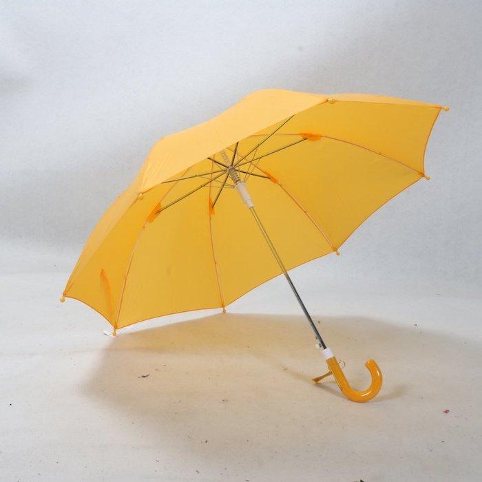 奇奇店-耐風強化骨傘柄可寫名字安全顯眼黃色兒童學生長桿自動雨傘#加固 #小清新 #晴雨兩用