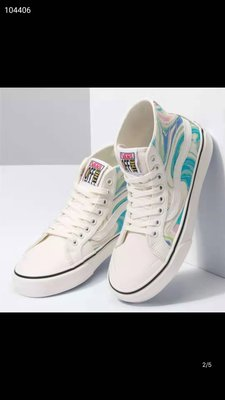 『E-COOL』Vans范斯 Resin Swirl藝術旋流油墨印花男女新款休閑滑板鞋