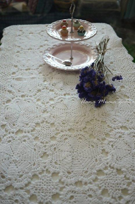 瑕疵 特價 復古 蕾絲 長方形 160*80cm 白色 桌巾 桌布 花朵 鏤空 縷空 純棉 手鉤 手工 手作 鋼琴 蓋巾
