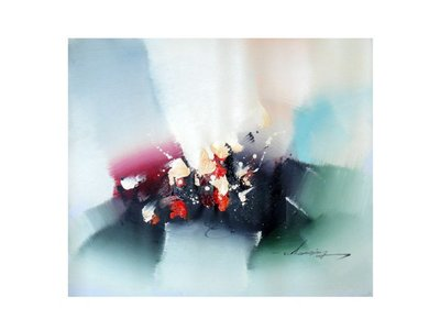 ◎『佳家畫廊』→(有簽名)中型油畫-抽象山水系列1◎民宿/飯店/公司/居家/高雄油畫特價