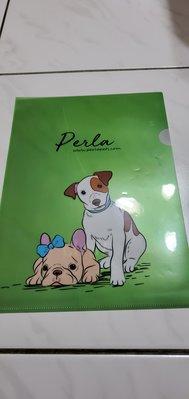 透明亮麗綠色   色彩鮮艷  狗狗 資料夾/文件夾/L型文件套