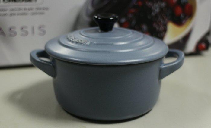 【小麥的店】現貨*法國 Le Creuset 迷你陶瓷圓烤盅 // 藍灰色霧面