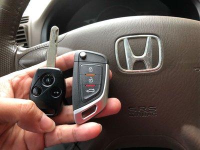 大彰化汽車晶片HONDA FIT 2 CRV2 CRV3 本田汽車 傳統鑰匙 CRV2晶片鑰匙 CRV3摺疊鑰匙刀鋒款