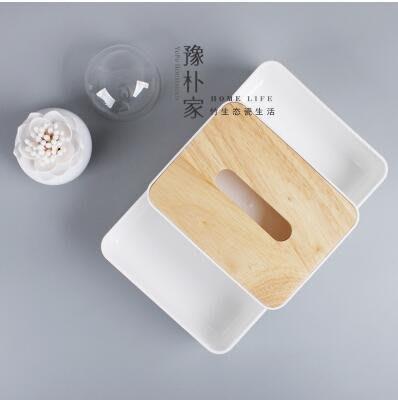 【優上】歐式紙巾盒餐巾紙抽盒 客廳車用抽紙盒橡木製蓋子「橡木 收納盒」