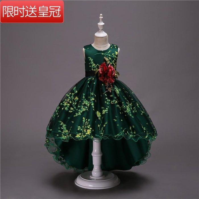 表演服 洋裝 禮服 公主裙 公主裙蓬蓬紗大女童禮服小主持人走秀禮服公主 連身裙寶寶演出禮服
