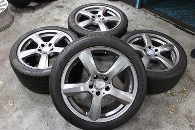 蓋世輪 BENZ CLS原廠18吋鋁圈輪胎(二手極新)售28000