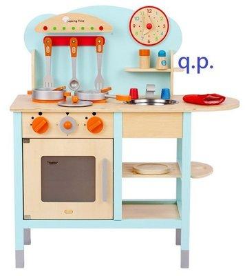 DIY組裝 出口韓國 小孩兒童扮家家酒遊戲 木製玩具 鍋具 餐具 時鐘 廚房瓦斯爐灶台 益智 木質模型  烹飪料理 禮物
