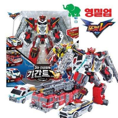 可超取🇰🇷韓國境內版 機器戰士 宇宙奇兵 tobot v 消防車 警車 救護車 三合一 合體 變形 機器人 玩具遊戲組