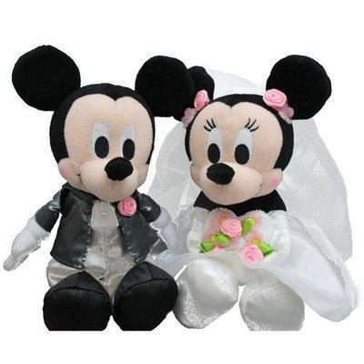 尼德斯Nydus~* 日本正版 迪士尼 米奇 米妮 愛心版 結婚禮盒 娃娃 絨毛玩偶 公仔 西裝款