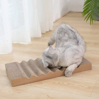 貓抓板磨爪器瓦楞紙板貓抓墊不掉屑磨爪耐磨貓爪板小貓咪玩具用品【選項有分大小價格】