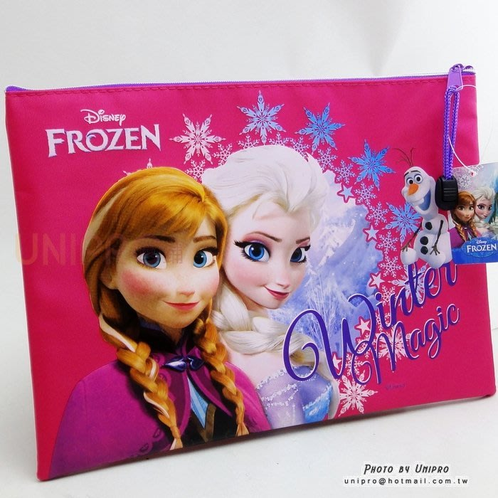 【UNIPRO】迪士尼 冰雪奇緣 FROZEN ELSA ANNA 雪寶 化妝包 筆袋 萬用包 資料袋 正版授權