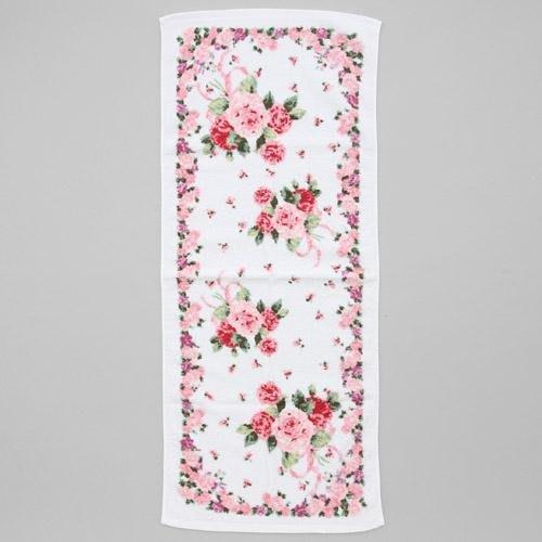 ~~凡爾賽生活精品~~全新日本進口粉紅色玫瑰花束造型純棉大毛巾~日本製