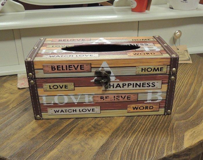 仿舊工業風面紙盒套 工業風木板圖案面紙盒 抽取式面紙盒 抽取式衛生紙盒 人造皮革面 硬殼面紙盒 面紙套
