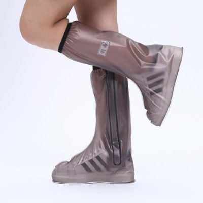 YEAHSHOP 鞋套 利雨高筒雨鞋套男女防水鞋套防水雨天防雨鞋套防滑加厚耐磨雨鞋套583372Y185
