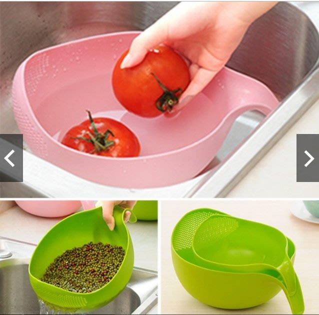 朵拉媽咪  ❤️ 全新現貨馬上出 ❤️ (大) 洗米籃 洗水果籃 瀝水籃 洗米盆 洗米盤 洗水果盆