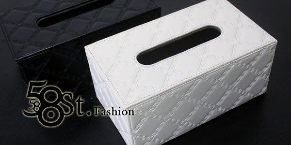【58街】皮革製品設計款式「菱格花紋面紙盒、紙巾盒」。AF-101