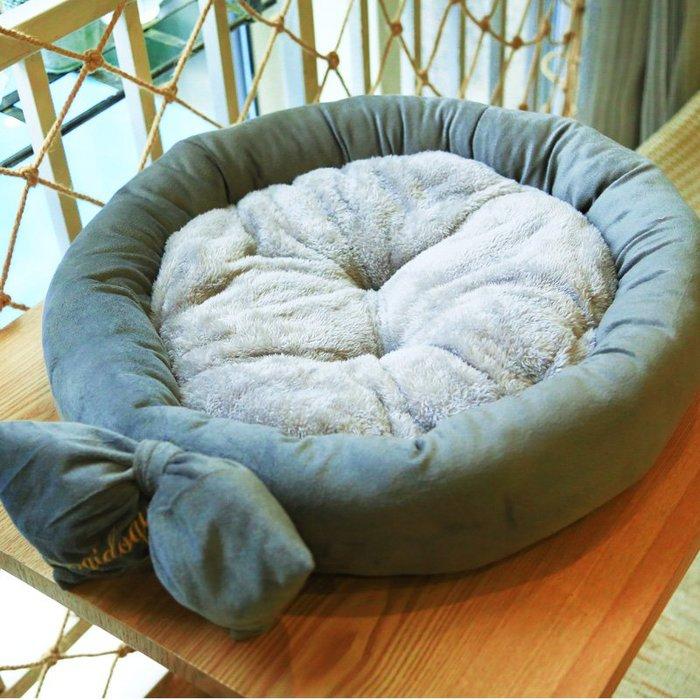 狗窩小型犬中型犬泰迪圓窩貓窩寵物用品寵物窩秋冬保暖四季可拆洗