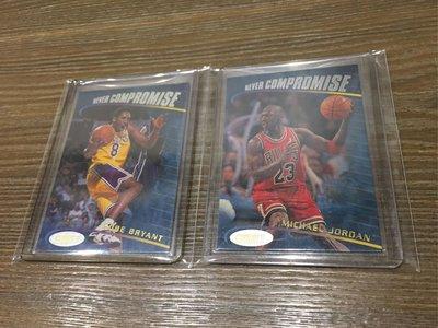 【NBA】1998-99 Stadium Club NEVER COMPROMISE 芝加哥公牛 Jordan、洛杉磯湖人 Kobe 特卡 球員卡 共2張