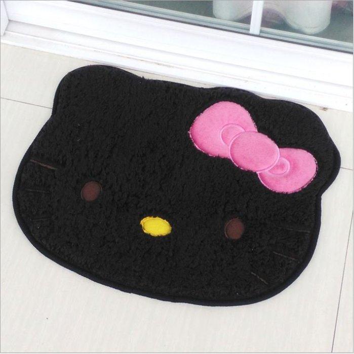 ANLIFE》浴室吸水踏墊 毛絨防滑腳墊 Hello kitty地墊 腳踏墊臥室地毯 浴室防滑墊 進門口腳墊C8109