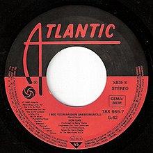 7吋單曲黑膠唱片《 Kon Kan - I Beg Your Pardon 》德版、發行於歐洲地區、45轉