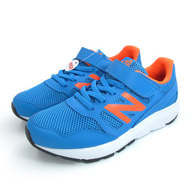 NEW BALANCE 570 運動鞋 中童鞋 大童鞋 WIDE 寬楦 透氣 藍螢光橘N# YT570CRS