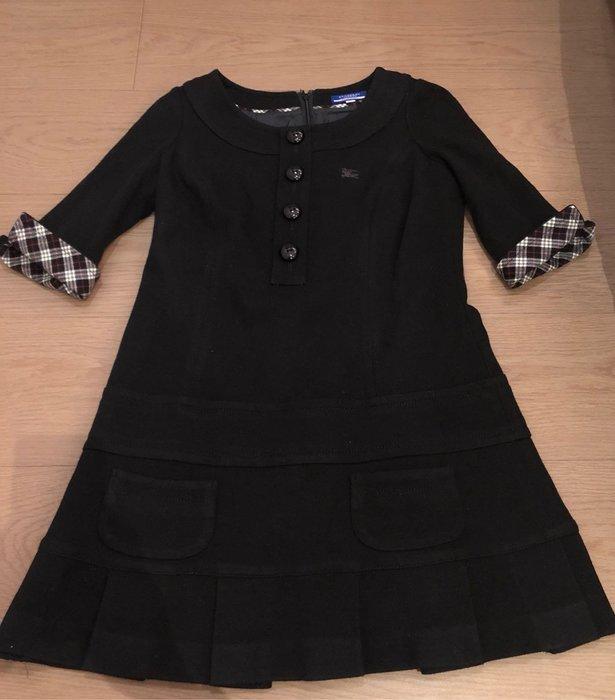 日本藍標 Burberry blue label 黑色五分袖洋裝