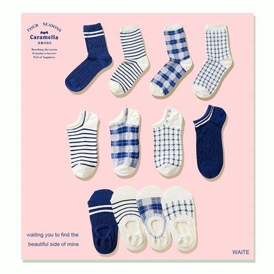 女襪中筒襪長襪船襪淺口襪春秋女船襪中筒韓版純棉襪子學院風隱形短襪淺口低幫襪