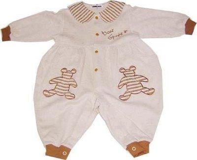 可愛寶貝---◎◎全新小熊繡花兩用嬰兒服---中厚◎◎☆☆人氣商品☆☆