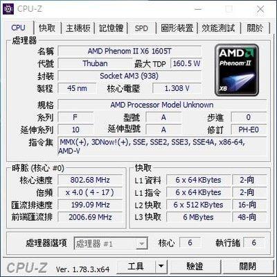 【含稅】AMD Phenom II X4 960T 3.0G E0 95W 不鎖頻散片CPU 另有包開六核同1065T