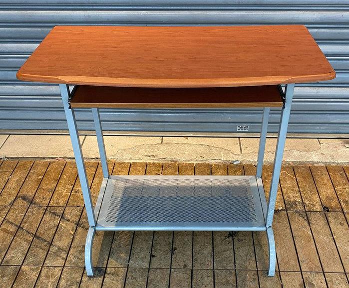 樂居二手家具 便宜2手傢俱拍賣 F0106GJJ 木紋簡易電腦桌 書桌 各式辦公鐵櫃/文件櫃/電腦桌/活動櫃優惠特價新竹