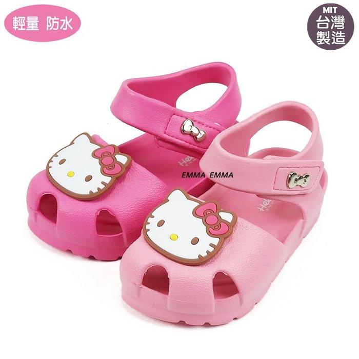 童鞋/HELLO KITTY 凱蒂貓兒童護趾涼鞋 輕便涼鞋.(819286)粉.桃14-18公分