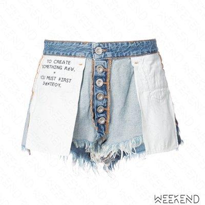 【WEEKEND】 UNRAVEL Reversible 反穿 牛仔 短褲 藍色 18春夏新款