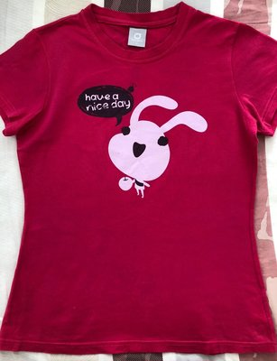 Top Girl 桃紅色T恤