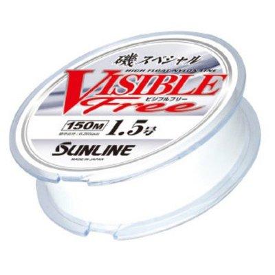 ❖天磯釣具❖日本SUNLINE 磯スペシャル VISIBLE Free 新款 磯釣 白色尼龍母線 150m