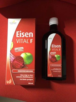(三盒/組 含運/件)甜菜根大補鐵 Hübner Eisen Vital F 500 ml