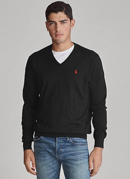 Polo Ralph Lauren 小馬 針織衫 成人款 黑色