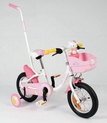 正版Holle Kitty造型12吋豪華親子腳踏車/-台灣製造