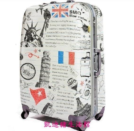 【凱迪豬生活館】時尚韓國拉桿箱可愛萬向輪24寸行李箱 旅行箱子男女潮皮箱學生拉箱包KTZ-201029