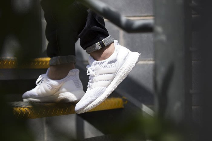 ADIDAS ULTRA BOOST 3.0 全白 編織 襪套 慢跑鞋 男鞋 BA8841