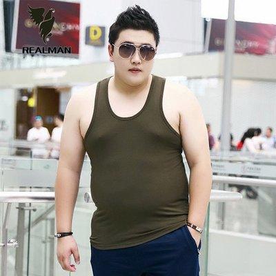 Realman男裝店 ~ 大碼夏季男士莫代爾寬鬆棉質打底衫胖子背心 ~t恤背心短袖長袖襯衫馬甲外套上衣