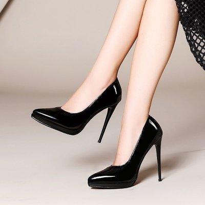 【明良精品】 TSV-10-10優質珠光漆皮/牛皮透氣內裡/尖頭高跟鞋【小尺碼31~33碼=1265元】(31~45碼)